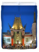 Grauman's Chinese Theater Night Lights  Duvet Cover