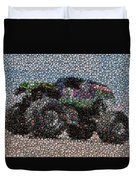 Grave Digger Bottle Cap Mosaic Duvet Cover by Paul Van Scott