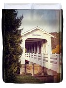 Grave Creek Covered Bridge Duvet Cover