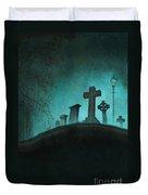 Graveyard At Night Duvet Cover