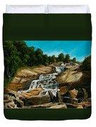 Graveyard Falls Blue Ridge Parkway Duvet Cover