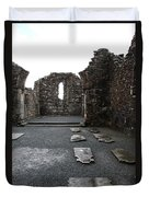 Graveyard In Church Ruin - Ireland Duvet Cover