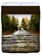 Laughing Whitefish Falls Duvet Cover