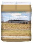 Gray Barn In A Cornfield Duvet Cover