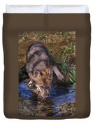 Gray Wolf Pup Endangered Species Wildlife Rescue Duvet Cover