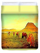 Happy To Be Grazing Again Duvet Cover