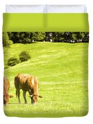 Grazing Cows Duvet Cover