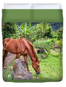 Grazing In Paradise Duvet Cover