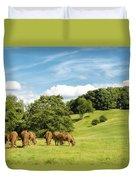 Grazing Summer Cows Duvet Cover