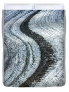 Great Aletsch Glacier Moraine Duvet Cover