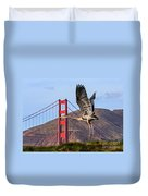 Great Blue At The Golden Gate Duvet Cover