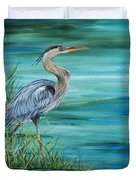 Great Blue Heron-2a Duvet Cover