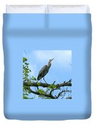 Great Blue Heron Afternoon Fishing  Duvet Cover