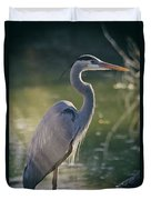 Great Blue Heron At Sunset  Duvet Cover