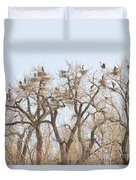 Great Blue Heron Colony Duvet Cover