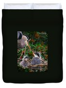 Great Blue Heron Family Duvet Cover