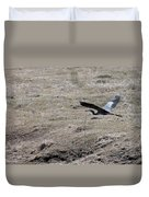 Great Blue Heron Flight Duvet Cover