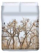 Great Blue Heron Hangout Duvet Cover