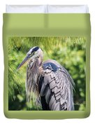 Great Blue Heron Iv Duvet Cover
