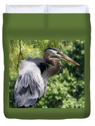 Great Blue Heron Vi Duvet Cover