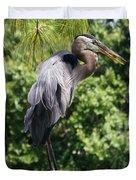 Great Blue Heron Vii Duvet Cover