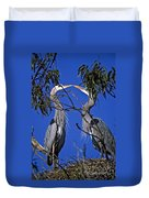 Great Blue Herons Duvet Cover