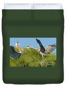 Great Blue Herons Duvet Cover