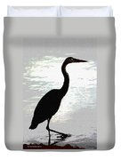 Great Blue Herons Nightside Duvet Cover