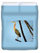 Great Blue Sunset Duvet Cover