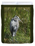 Great Blue Waiting For Prey Duvet Cover