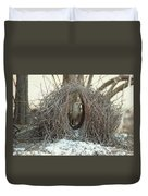 Great Bowerbird Male In Bower Australia Duvet Cover