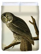 Great Cinereous Owl Duvet Cover