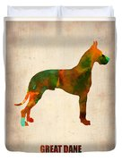 Great Dane Poster Duvet Cover by Naxart Studio