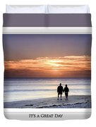 Great Day Poster Duvet Cover