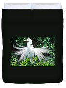 Great Egret Displaying Breeding Plumage Duvet Cover