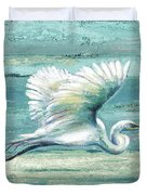 Great Egret I Duvet Cover