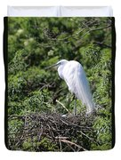 Great Egret Nest Duvet Cover