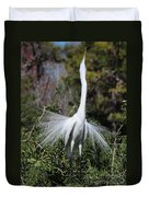 Great Egret Showoff Duvet Cover