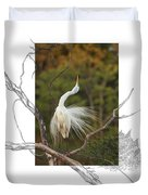 Great Egret - Stretch Duvet Cover