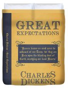 Great Expectations By Charles Dickens Book Cover Poster Art 1 Duvet Cover