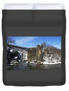 Great Falls Painted Duvet Cover