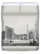 Great Friday Mosque In Isfahan Duvet Cover