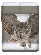 Great Gray Owl Pictures 634 Duvet Cover