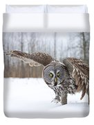 Great Gray Owl Pictures 658 Duvet Cover