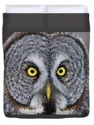 Great Gray Owl Pictures 680 Duvet Cover