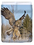 Great Gray Owl Pictures 767 Duvet Cover