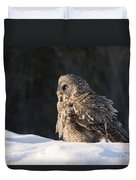 Great Gray Owl Pictures 788 Duvet Cover