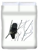 Great Grey Owl On The Lookout Duvet Cover
