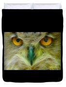 Great Horned Eyes Fractal Duvet Cover