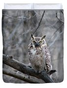 Great Horned Owl Duvet Cover